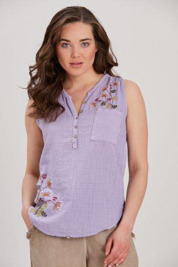 Kadın Lila Pamuklu Bluz...