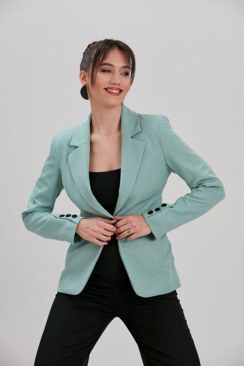 Kadın Yeşil Blazer Ceket...